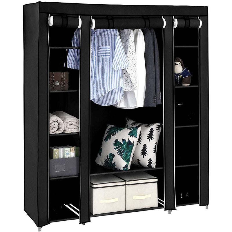 Nancy's Wardrobe XXL Black - Foldable Wardrobe - Wardrobe