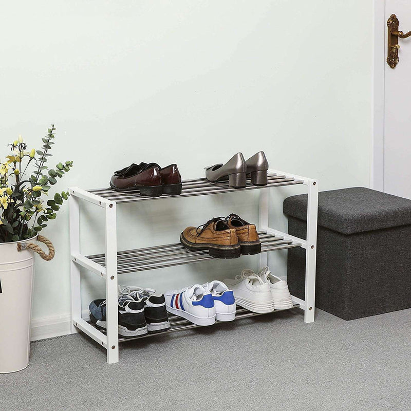 Nancy's Shoe Rack - Shoe Storage - Shoe Cabinet - Shoe Racks - White - 80 x 30 x 50 cm