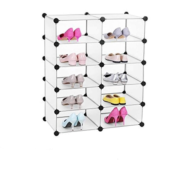 Nancy's Shoe / Storage Furniture 10 Cube Boxes - Shoe cabinet - Storage Shoes, Clothing / Filing Cabinet - click Connections - Space saving - 73 x 36 x 88 cm -