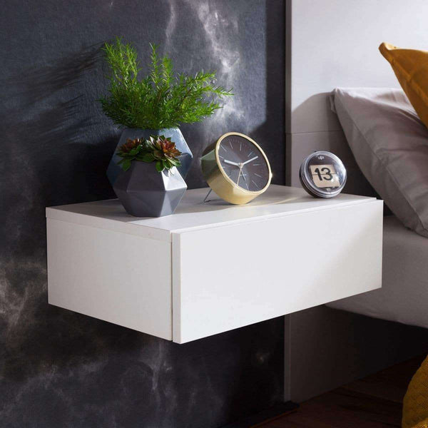 Nancy's Bedside Floating White - Wood Nightstand