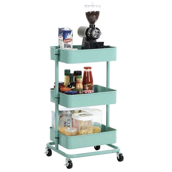 Nancy's Kitchen Trolley On Wheels Mintgroen - Kitchen Trolleys