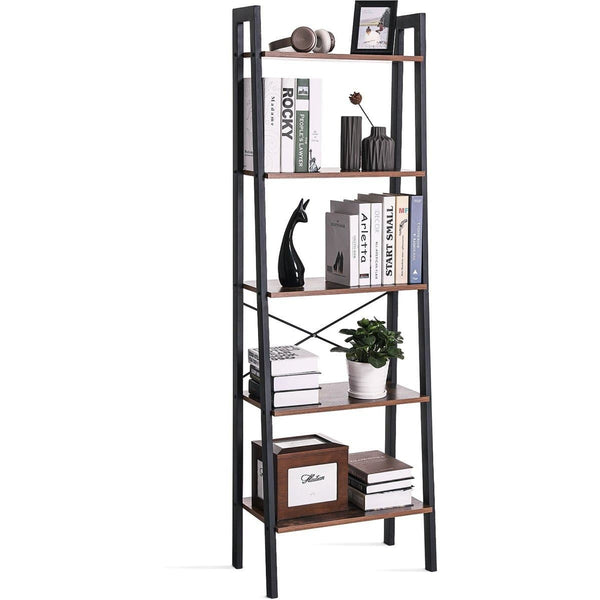 Nancy's Bookcase Industrial - Bokstativ - Stigskåp 5 lager 56 x 34 x 172 cm - Nancy HomeStore