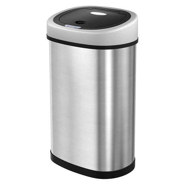 Nancy's Trash Can Trash - RVS - Infrared Motion Sensor - 50 l