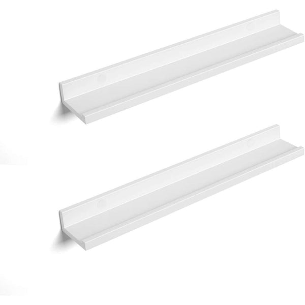 Nancy's Wall shelf Set of 2 White - Shelves Floating Wood 60 x 10 x 5 CM