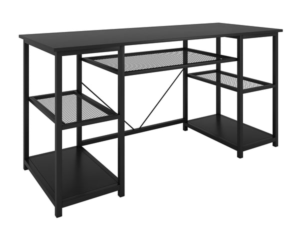 Nancy's Allen Desk - Computer Table - Office Table - Storage - Engineered wood - Powder coated steel - Black - 150 x 50 x 75 cm