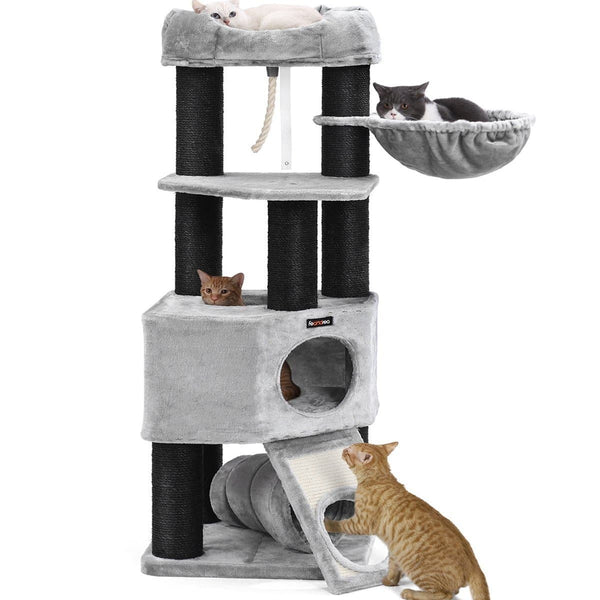 Nancy's Cat Tree XL - Luxury Cats House - Cat Tree - Cats - At 4 cats - 50 x 50 x 141 cm (L x W x H)