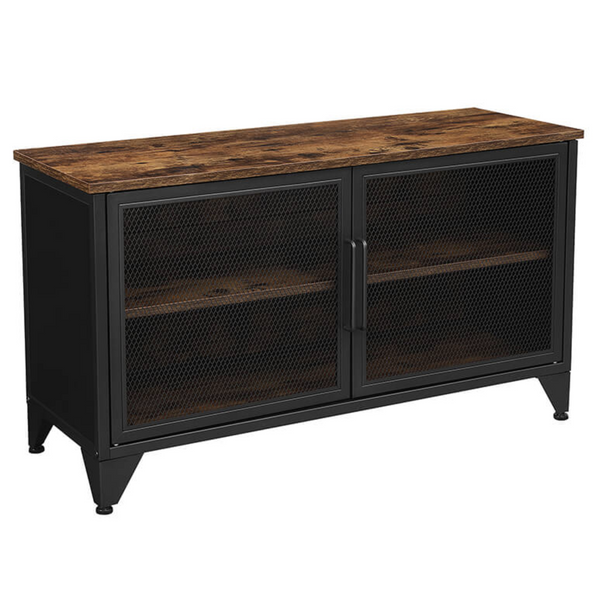 Nancy's Roxbury Furniture TV - TV cabinet - Cabinets - Dresser - Cabinet with shelves 2 - 2 Metal Doors - 100 x 35 x 55.5 cm (L x W x H)