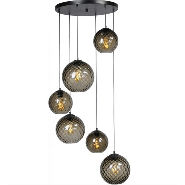 Nancy Thurston's Lamp 6 Lights - Living Light - Matt Black - ø50cm