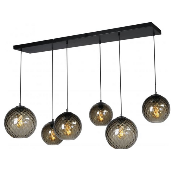 Nancy Thurston's Lamp 6 Lights - Living Light - Matt Black - 130 X 25 CM