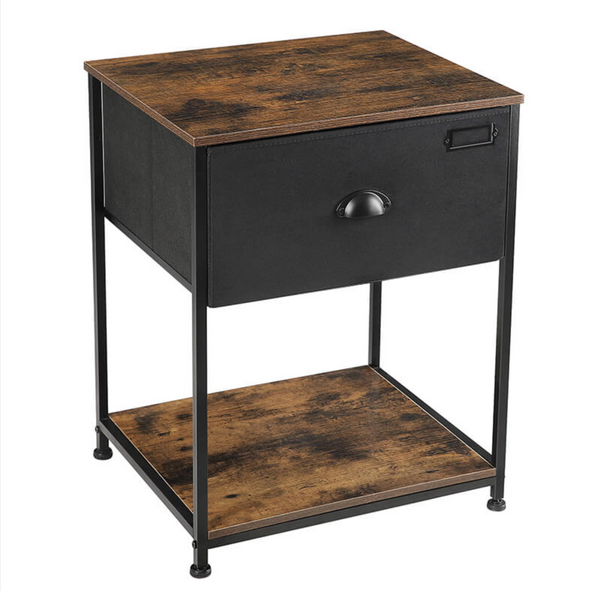 Nancy's Spokane Bedside table - with storage - Vintage End Table - 48 x 40 x 63 cm (L x W x H)