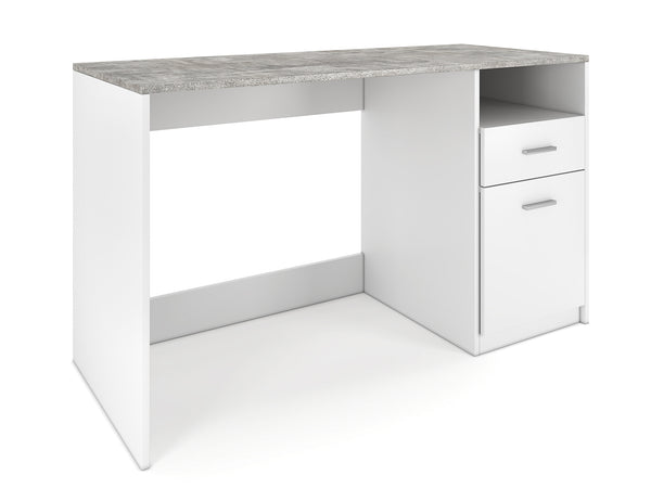 Nancy's Harvey Desk - Work table - Computer table - Storage - Storage compartment - Drawer - Black/White - Concrete - Engineered wood - 120 x 50 x 75 cm