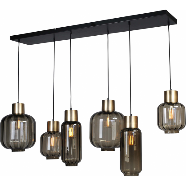 Nancy Mason's Lamp - 6 Ceiling lamps - lamp room - Matt Gold and Matt Black - 130 X 25CM