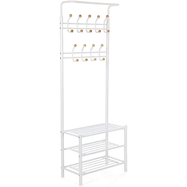 Nancy's Northbrook garderoberek With Coat Rack - Shoe garderoberek With 187 x 68.8 x 35.2 cm - hall wardrobe