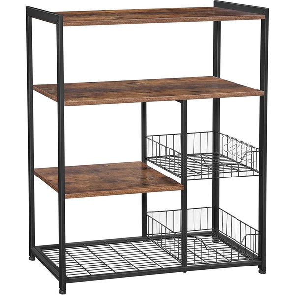 Kitchen unit Nancy's Industrial - Kitchen Trolley - kitchen cabinets - Kitchen Cabinet Organizer - hooks and shelves - Magnetronrek - Vintage - 80 x 35 x 95 cm