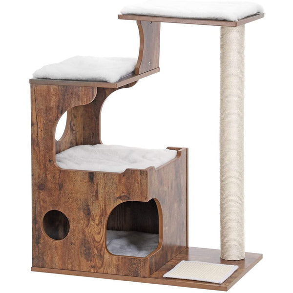 Nancy's Luxury Cat Tree Cat Brown - Scratching Post for Cats 88 CM