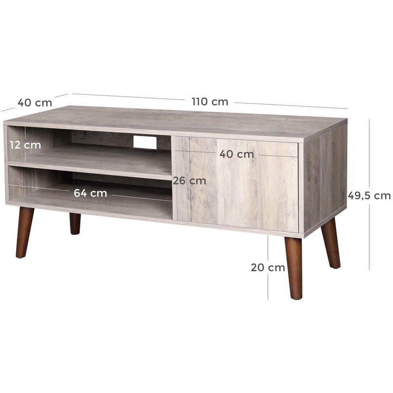 Nancy's Big Oaks Case Vintage TV - TV Furniture Industrial - Retro TV Table - 110 x 49.5 x 40 CM