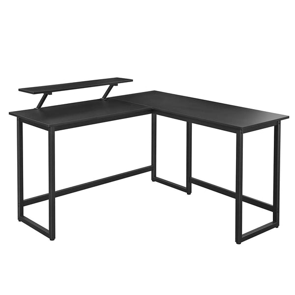 Nancy's Office - Desks - Corner Office - L-shaped - Industrial - Wood and Metal - Black - 140 x 130 x 76cm