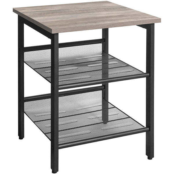 Nancy's Side table - Bedside - Industrial - Table - Gray / Black - 40 x 40 x 55 cm