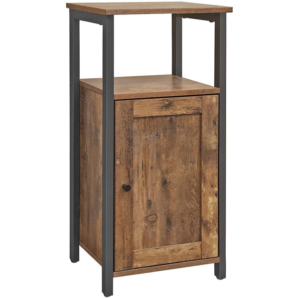 Nancy's Nightstand Industrial - Side table - Bedside Cabinets - Wood - Metal - Brown - 40 x 30 x 80 cm