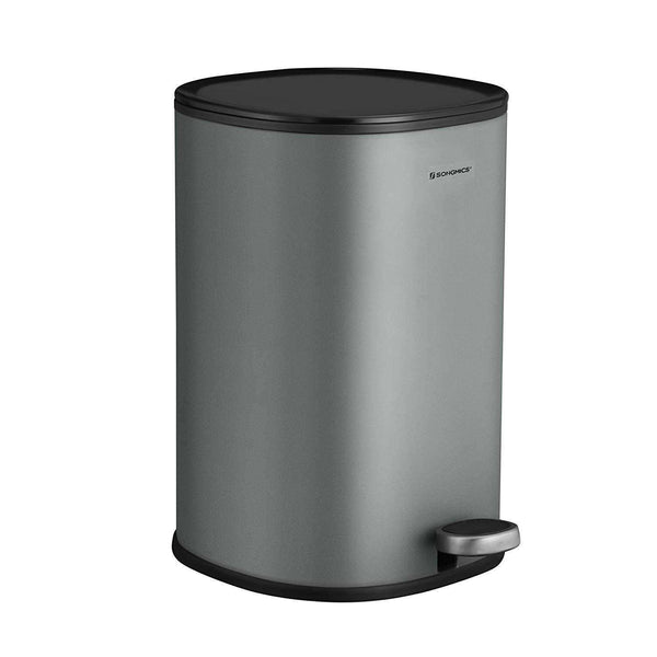 Nancy's Trash 5L - Steel Pedal Bin - Airtight - Trash - Bathroom - gray - 20 x 20 x 30.5 cm