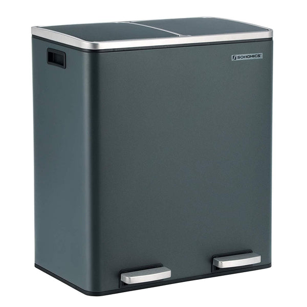 Nancy's Waste Bin 60 Liter - Trash cans - gray - 58.6 x 32 x 65 CM