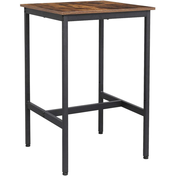 Nancy's Wood Bar table - Vintage Kitchen - Kitchen Bar table - High Office - Industrial - Wood & Metal - 60 x 60 x 90 cm