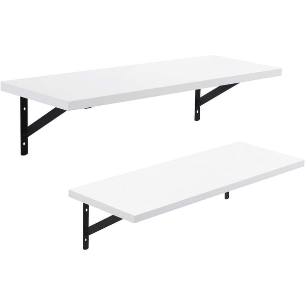 Nancy's Wall shelf - Hang Plank - Bookshelf - Set of 2 - white - 60 x 21 x 14 cm