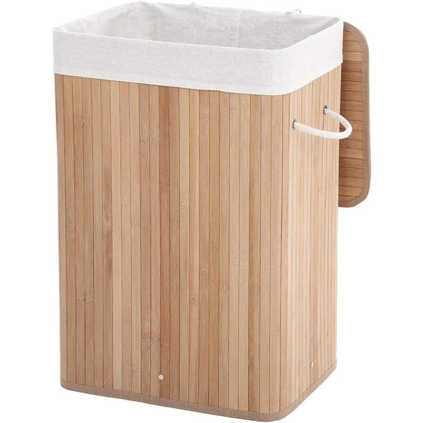 Nancy's Bamboo Wasmand - Collapsible Storage basket - 72 Liter - 40 x 30 x 60 cm