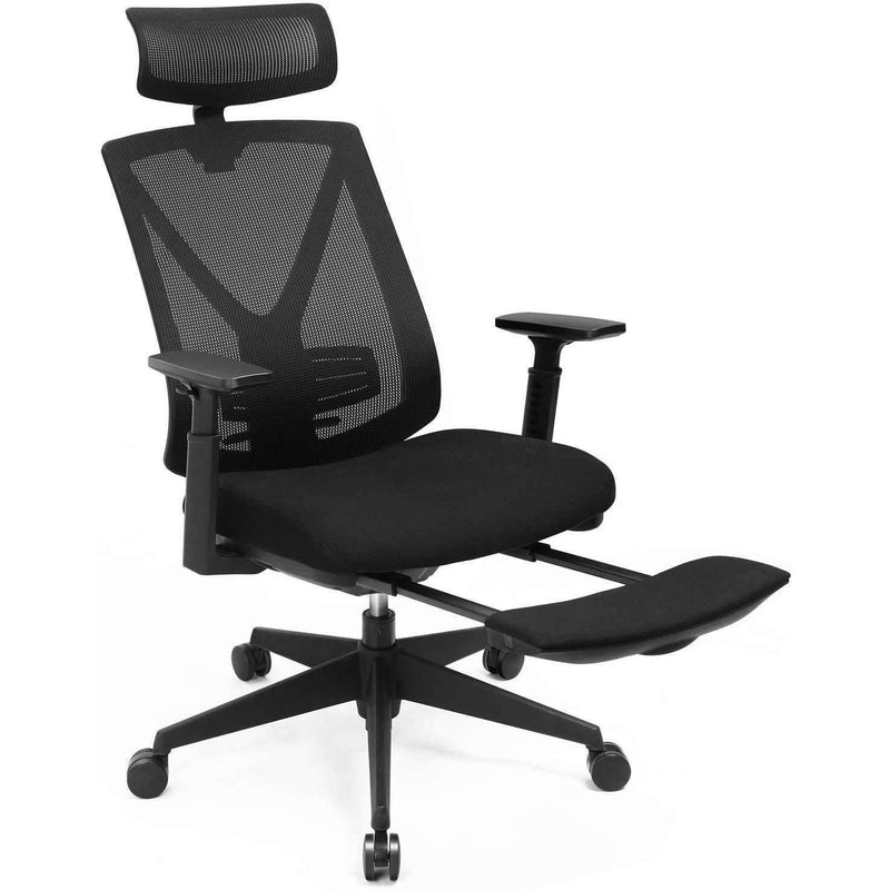 Nancy's Ergonomic Office Chair - Mesh - Executive Chair - Office Chair with Footrest - Office Chairs for Adults - Black