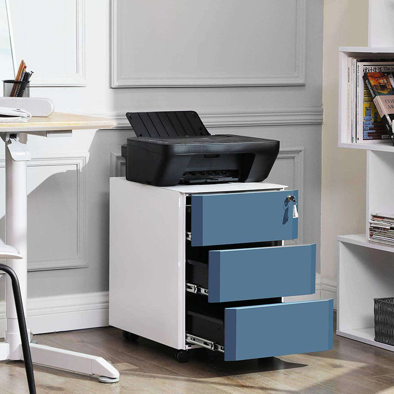 Nancy's Mobile Drawer Cabinet - Roll Container - 3 Drawers - Drawer Cabinet Desk - File Cabinet - Drawer Cabinet - 39 x 46 x 53 cm