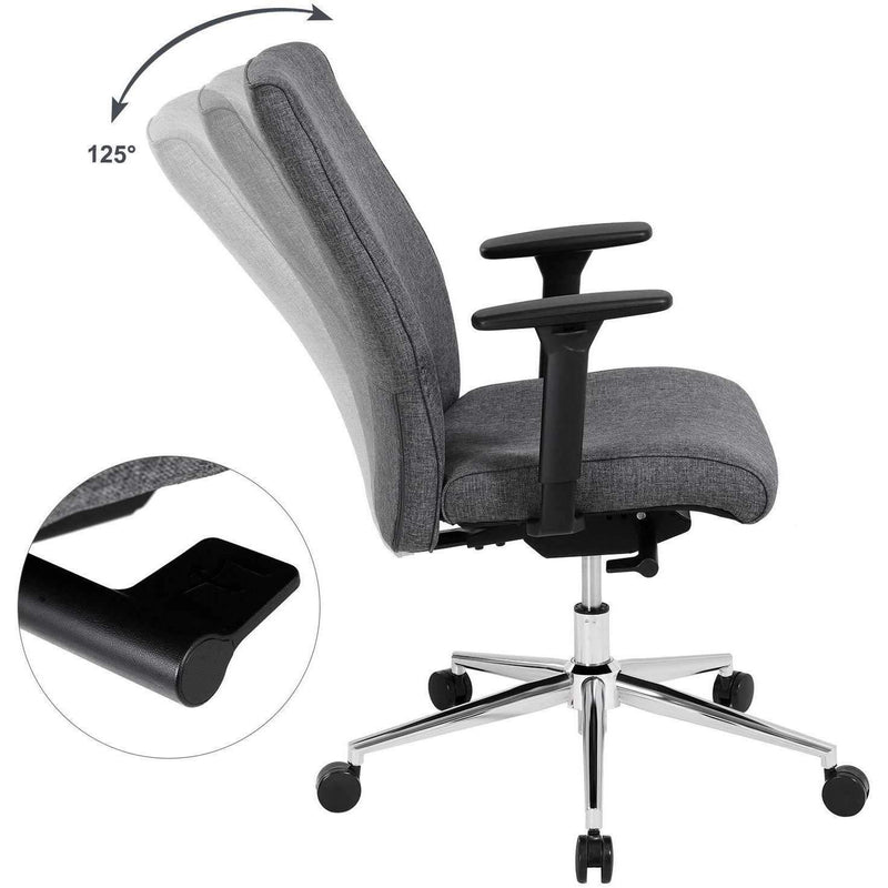 Nancy's Office Chair Black - Office Chairs - For Adults - Manager Chair - Metal Frame - Multifunctional - Loadable up to 150KG