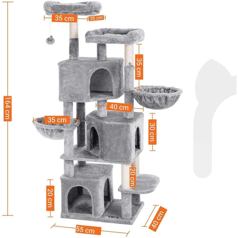 Nancy's Cat Tree with 3 cat caves - 164 cm - Cat House - Scratching Post - Cat Tree - Cat Scratching Posts