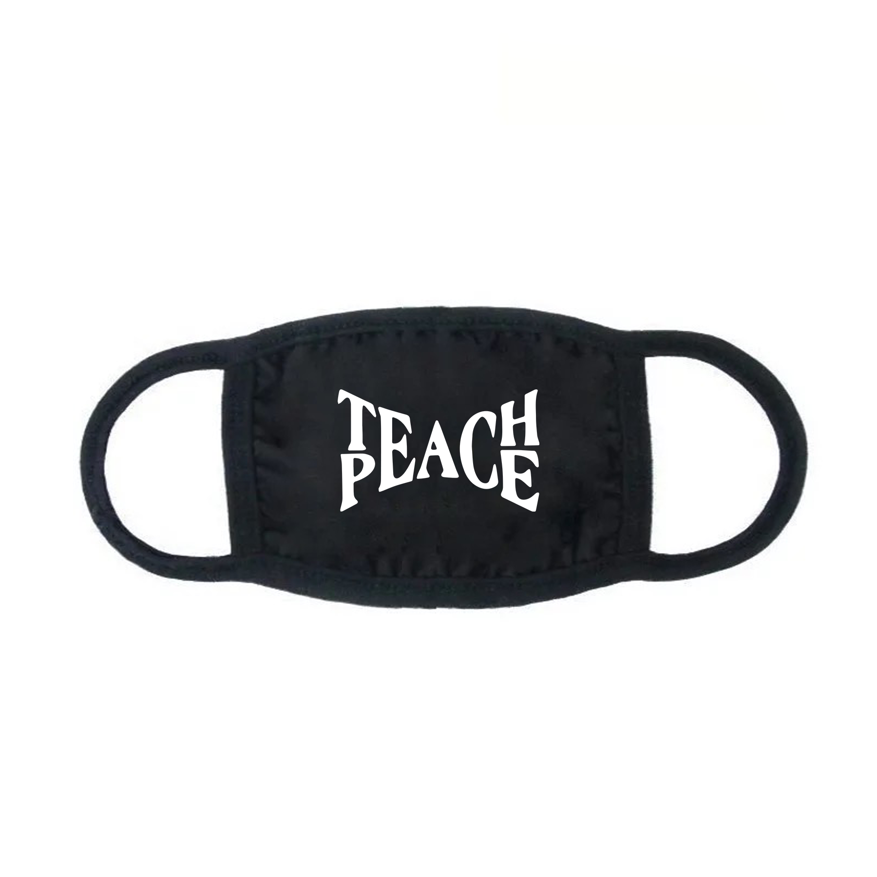Teach Peace Black Face Mask