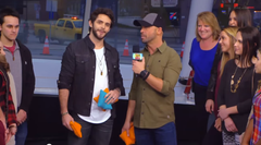 Watch Thomas Rhett Do The Cornhole Challenge