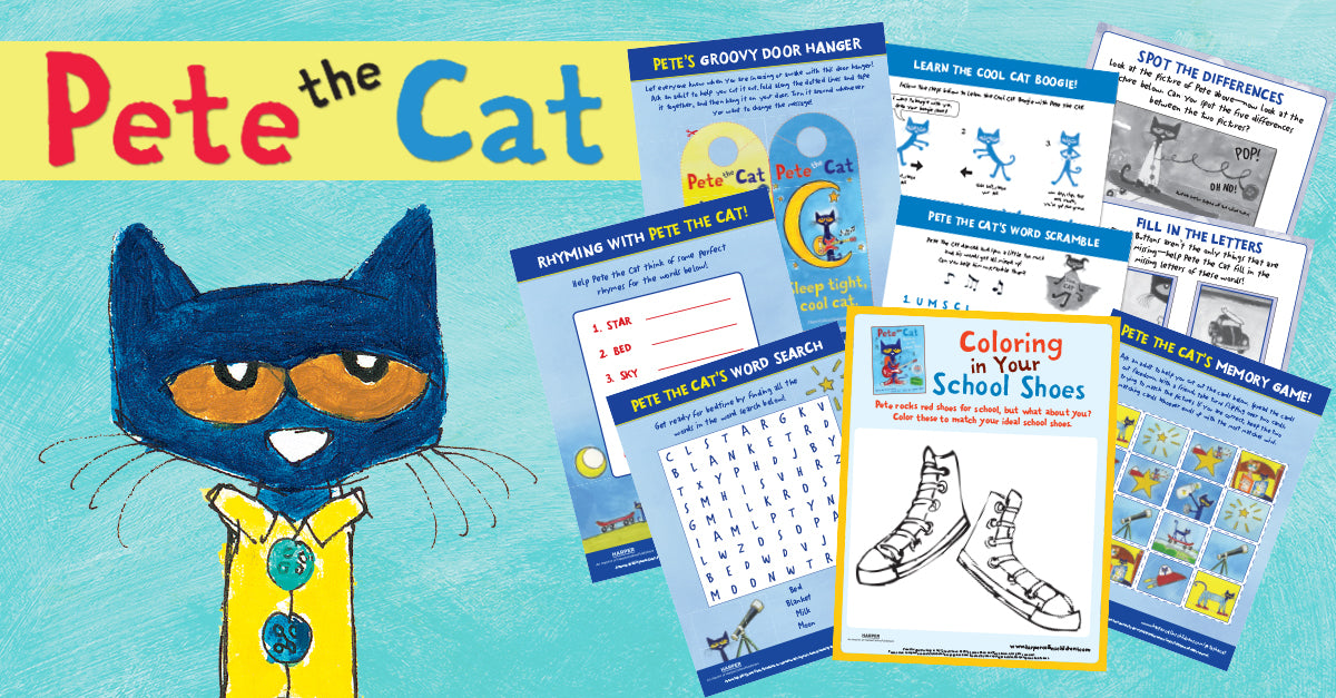 Pete The Cat Activities Songs And Educational Videos Harpercollins