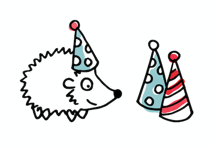Octicorn party hats