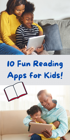 pinterest pin 10 fun reading apps for kids!