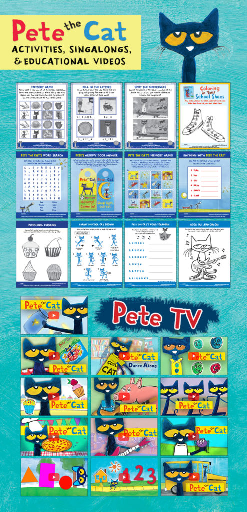 Pete the Cat Activities, Songs, and Educational Videos