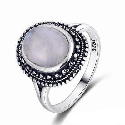 Bague Pierre de Lune Office - 10 / Moonstone - Pierre de