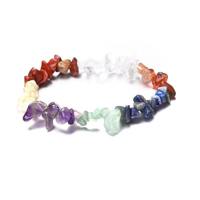 Natural Mixed Chakra Colorful Gems Stone Wristband Bracelet