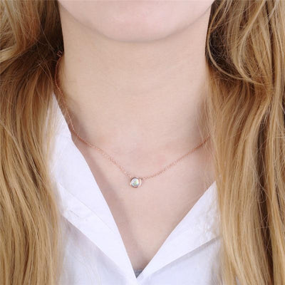 Collier Pierre de Lune Simple & Magnifique - Pierrelune