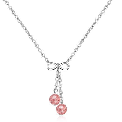 Pendentif Pierre de Lune Nemopanthe - Strawberry Crystal -