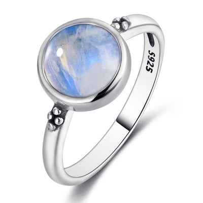 Nasiya Elegant Simple Moonstone Rings For Women 925 Silver Moonstone Jewelry Anillos Wedding Anniversary Engagement Gifts