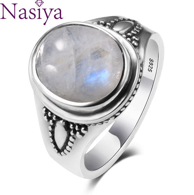 S925 Sterling Silver Fine Jewelry Femme 8x10mm Natural Stone