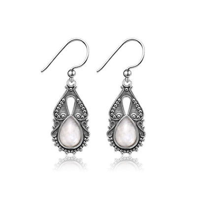 Nasiya Simple 8X11MM Water Drop Moonstone 925 Sterling Silver Drop Earrings Fine Jewelry For Women Dropshipping Wholesale