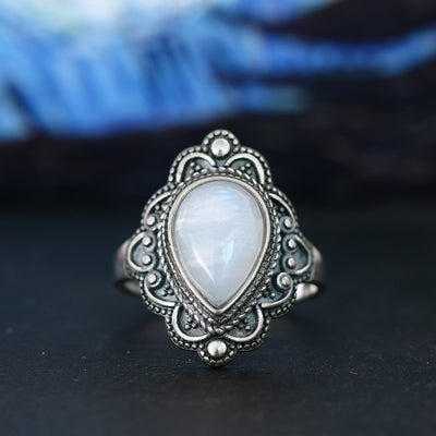 S925 Sterling Silver Rings 9x13 Mystic Topaz Gemstone Rings