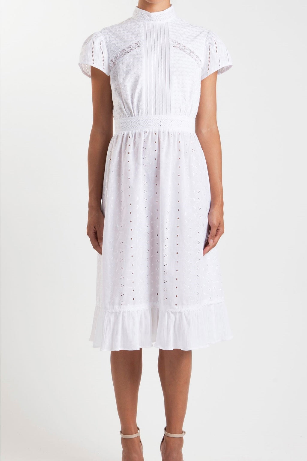 Broderie Lace Tea Dress