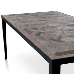 Recycled Dark Wood Dining Table