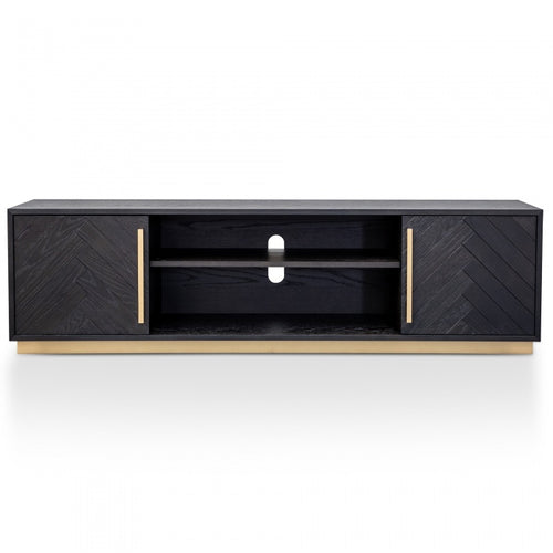 Black Herringbone Entertainment Unit