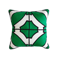 Load image into Gallery viewer, Splendour Cushion - Patterned Green and Black Cushion